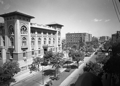 A view of the old general directorate building of Ziraat Bank. It was designed by Istanbul-born Italian Levantine architect Giulio Mongeri and built between 1926 and 1929.