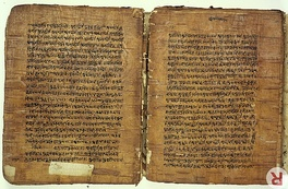 A 17th-century birch bark manuscript of ancient Panini Sutra, a treatise on grammar,[11] found in Kashmir.