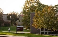 Cairn University's Music Building (left) and Biblical Learning Center (right).