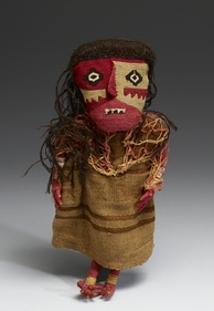 Textile doll (cotton, wool, wood)