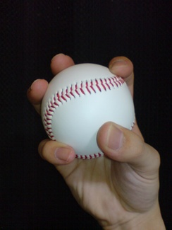 The grip used for a changeup