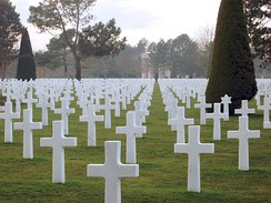The opening and closing scenes of the film are set in the Normandy American Cemetery and Memorial