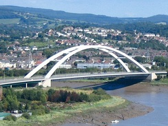 The City Bridge forms part of the Southern Distributor Road, spanning the River Usk