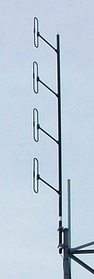 VHF collinear array of folded dipoles