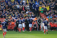 Scotland national football team in competition against Brazil, 2011