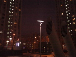 Night black sky at 9:06 am (UTC+04:00) on 23 December 2013 in Moscow