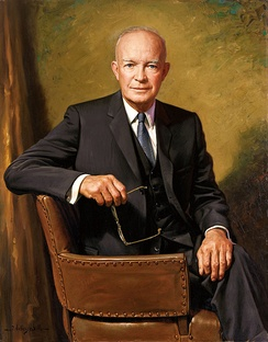The official White House portrait of Dwight D. Eisenhower