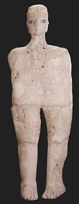 One of the 'Ain Ghazal Statues, made from lime plaster