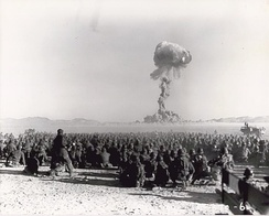 The U.S. conducted hundreds of nuclear tests at the Nevada Test Site.