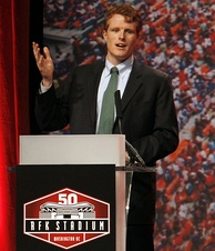 Kennedy speaking at the 50th Anniversary of the Robert F. Kennedy Memorial Stadium (2011)