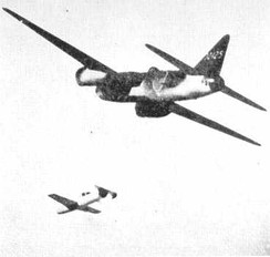 "G4M2e Model 24 Tei launching a suicide Yokosuka MXY-7 Ohka ""Baka"" (wind tunnel model experiment)"