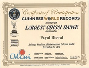 Guinness World Records on the largest Odissi dance event.