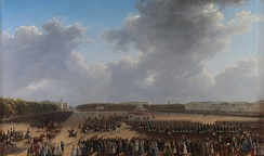 The Parade Celebrating the End of Military Action in the Kingdom of Poland on Tsaritsa Meadow in St Petersburg on 6 October 1831 [ru], by Grigory Chernetsov
