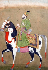 Guru Gobind Singh with his horse