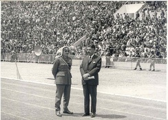 Army Chief Habis Majali and Prime Minister Wasfi Tal during a military parade in 1970, two widely acclaimed national figures.