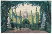 Set design for Le Pavillon d'Armide, Ballets Russes, 1909
