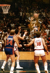 Isiah Thomas against the New York Knicks at Madison Square Garden on January 19, 1985.