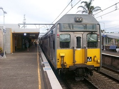 Broadmeadow station on the Newcastle Line