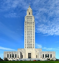 The Louisiana State Capitol in Baton Rouge, the tallest state capitol building in the United States