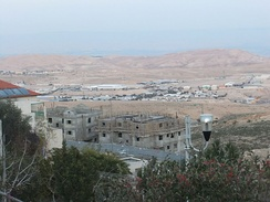 Ma'ale Adumim, one of the four biggest settlements in the West Bank, industrial area, 2012
