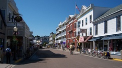 The entire island of Mackinac Island is a designated National Historic Landmark.