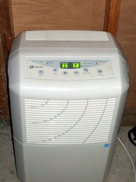 Typical portable dehumidifier