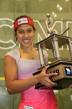 Nicol David; widely regarded as the most successful Malaysian squash player ever.