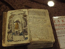 Open, illustrated Prekmurje New Testament from the 18th century