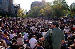 The General Assembly meeting in Washington Square Park, New York City, on 8 October 2011
