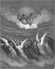 Gustave Doré, The Heavenly Hosts, c. 1866, illustration to Paradise Lost.