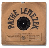 Hungarian Pathé record, 90 to 100 rpm