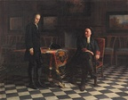 Peter the Great interrogating Tsarevich Alexei Petrovich at Peterhof Palace, 1871