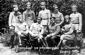 """The Commandant"" Józef Piłsudski with his legionaries in 1915"