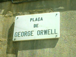 In Catalonia, a square near the Barcelona waterfront named Plaça de George Orwell.