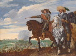 Frederick Henry and Ernst Casimir at the siege of 's-Hertogenbosch by Pauwels van Hillegaert