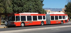 New Flyer DE60LF diesel-electric hybrid in Albuquerque, New Mexico, USA.