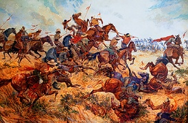 Battle of San Pascual, a rousing Californio victory led by Don Andrés Pico against a superior force led by Gen. Stephen W. Kearny. Kearny had underestimated Californio anger toward John C. Fremont, and his troops were tired after crossing the desert from New Mexico.