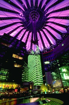 The Sony Center at Potsdamer Platz in Berlin
