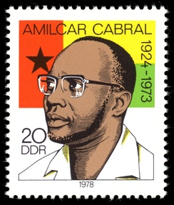 Amílcar Cabral on a stamp of the former East Germany