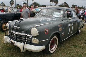 A Studebaker driven by Dick Linder in the 1951 Daytona Beach Road Course race.[41]