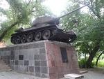 Танк Т-34 из колонны «Пензенский комсомолец»