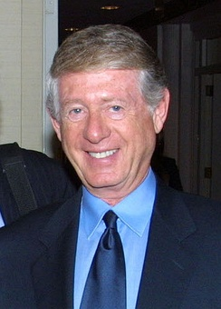 "News anchor Ted Koppel (pictured in 2002), who midway through the 1996 Republican National Convention told viewers that he was going home because it has become ""more of an infomercial than a news event.""[63]"