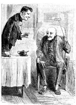 "Mr Wemmick and ""The Aged P."", illustration by Sol Eytinge Jr."
