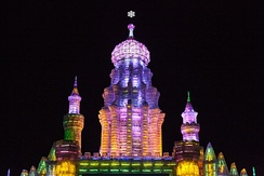 Tower at Harbin Ice and Snow Festival, 2013
