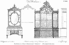 """Two Bookcases"", from the Director, 1754"