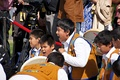 The Young Dene Drummers performed when Prince William and Kate visited Yellowknife, NWT on July 5, 2011.