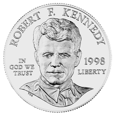 The U.S. minted a United States dollar coin[193] in 1998 featuring Law alumnus Robert F. Kennedy, who was assassinated after winning California in the 1968 Democratic primaries.