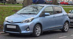 The Toyota Yaris Hybrid, released in 2012, is available in Europe in lieu of the Prius c.