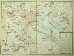 Map of the city, c. 1914