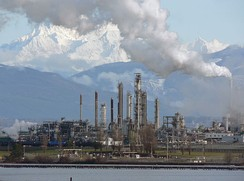 Anacortes Refinery (Marathon), on the north end of March Point southeast of Anacortes, Washington, United States